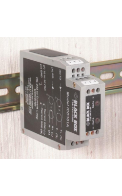 ICD101A - RS-232 to Current Loop DIN Rail Converter w/Opto-I