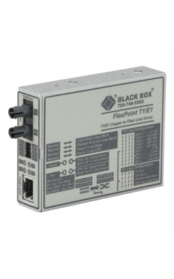 MT661A-SM - FlexPoint T1/E1 to Fiber Line Driver, Single-Mode,