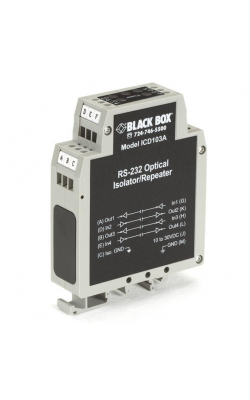 ICD103A - DIN Rail Repeater w/Opto-Isolation, RS-232