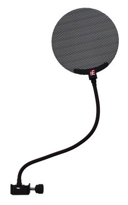 DUAL PRO POP FILTER - Combination Pop Screen with metal and fabric scree