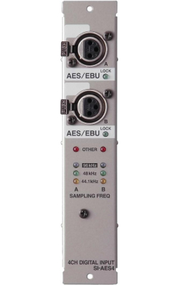 SI-AES4 - 4 ch AES/EBU digital input card with 2 XLR connect