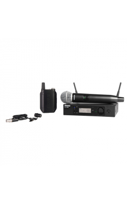 GLXD124R/85-Z2 - GLXD124R/85 Handheld and Lavalier Combo Wireless System