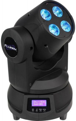 FLURRY EXA - 4x 15W (6 x 2.5W) RGBAW+UV mini moving head wash f