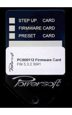 PRESET CARD - POWERSOFT Preset Card