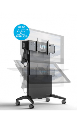 FPS1/ELT/GG - Mobile Stand, Electric Lift and Tilt- Graphite and