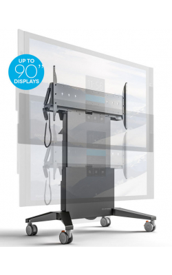 FPS1XL/EL/GG - Mobile Stand-XL, Electric Lift - Graphite and Gray