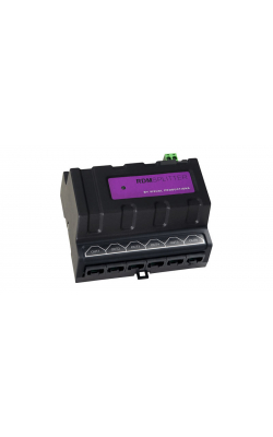 RDM SPLITTER (RJ) - DIN rail mounted DMX+RDM splitter/booster.