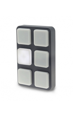 B-STATION - Wall-mount panel with backlit push-buttons.
