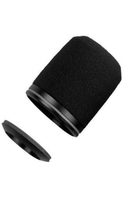 RK183WS - Black Snap-Fit Foam Windscreens for MX183, MX184,