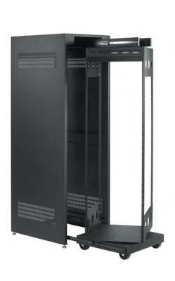 CPROTR-42 - Free Standing Pull-out and Rotating Rack with Metal Enclosure