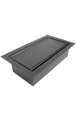 124CLBK - Double Wide Pocket/Carpet Lid - Black