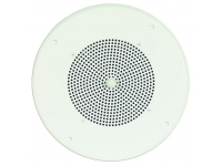 "S86T725PG8WBRVR - 8"" Ceiling Speaker Assembly (Off-White, Screw Terminal, Recessed Volume Control)"