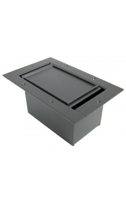 123CLBK - Half Pocket/Carpet Lid - Black