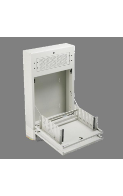 "AWR2W - 2RU Tilt Out Wall Cabinet for 19"" Equipment (White)"