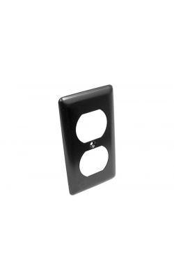 DB - Narrow Black Steel Duplex Cover Plate