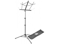 SM7222BB - Tubular Tripod Base Sheet Music Stand (Black, with Bag)