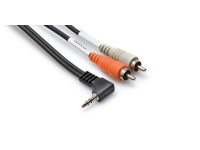 CMR-203R - Y CABLE 3.5MM TRS RA - RCA 3FT