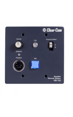 HB-702 - 2-Channel Select Flush-Mount Headset Station