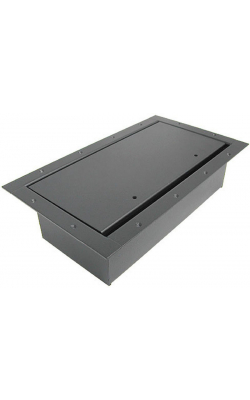 124SLBK - Double Wide Pocket/Standard Lid - Black