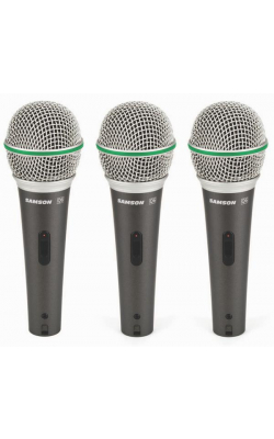 Q6 (3-PACK) - Dynamic Supercardioid Handheld Mic (3-pack)