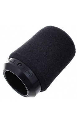 A2WS-BLK - Black Locking Foam Windscreen for 545 Series, SM57