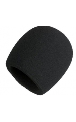 A58WS-BLK - Black Foam Windscreen for All Shure Ball Type Micr