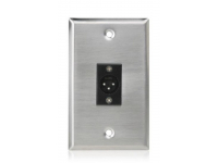 SG-XLR-M1 - Single Gang Stainless Steel Plate with (1) Male 3