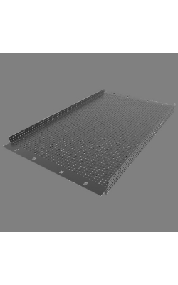 "PPR6 - 19"" 6 RU Recessed Vent Rack Panel"