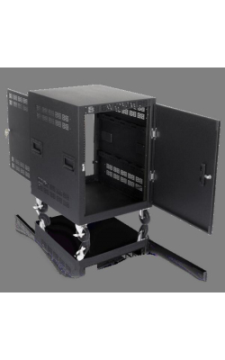 "RX14-25 - 14RU Mobile Equipment Rack, No Doors (25.5"" Deep)"