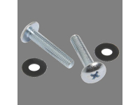 HK-40 - 40 Count #10-32 Phillips Head Chrome Screws and 40
