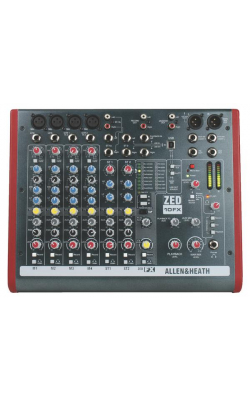 AH-ZED10FX - 4 Mic/Line 2 with Active DI, 3 stereo line inputs,