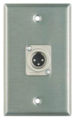 WP1014 - Wall Plate, 1 XLRM Connector, 1 Gang