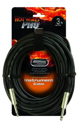IC-3NN - Instrument Cable w/ Neutrik Connectors (QTR-QTR, 3')