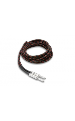 3GT-18C5 - GUITAR CABLE CLOTH BK RD 18FT