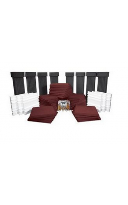 SFS184BUR - SonoFlat System for Rooms up to 400 Sq. Ft. (54 pieces, Charcoal, Burgundy)