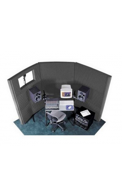 "MAX831CHA - MAX-Wall Series Portable Acoustric Treatment w/Window (8 - 20""x48"" panels, Charcoal)"