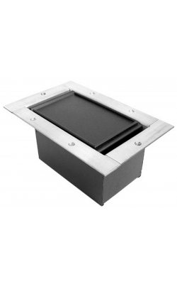 323CLSS - Half Pocket/Carpet Lid - Stainless Steel Bezel