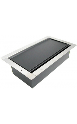 324CLSS - Double Wide Pocket/Carpet Lid - SS Bezel
