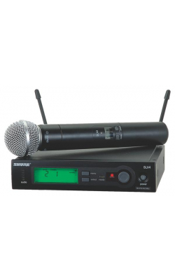SLX24/SM58-G4 - SLX Series Handheld Wireless System with SM58 Mic