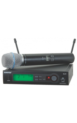 SLX24/BETA87A-G4 - SLX Series Handheld Wireless System with BETA87A Mic