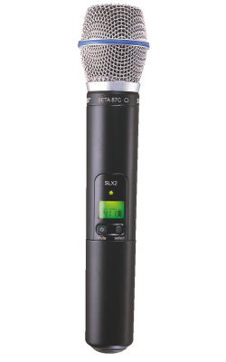 SLX2/BETA87C=-G4 - SLX Series Wireless Handheld Transmitter with Beta 87C Capsule