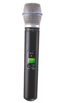 SLX2/BETA87A=-G4 - SLX Series Wireless Handheld Transmitter with Beta 87A Capsule