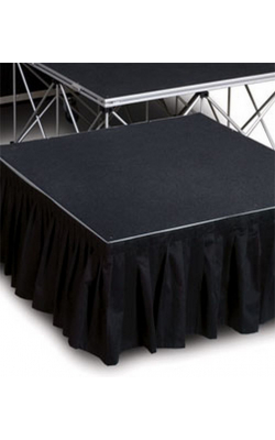 "ISSK8X24 - 8' Wide, 24"" Long Black Stage Skirt"