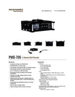 Specsheet for Item# 220245 Model#PMD-706