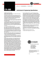 Specsheet for Item# 33005 Model#CTS600